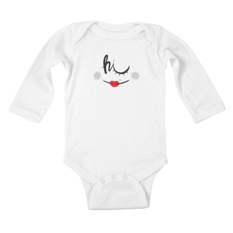 Hi  Kids Baby Longsleeve Bodysuit by Paulo Bruno Artist Shop