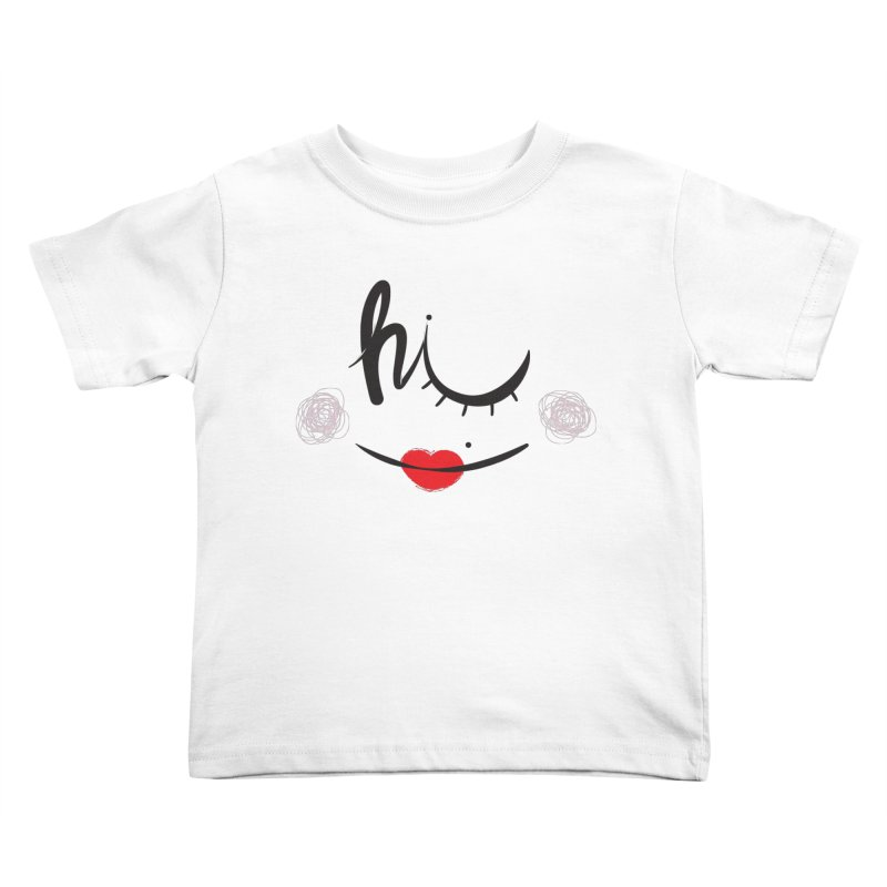 Hi  Kids Toddler T-Shirt by Paulo Bruno Artist Shop