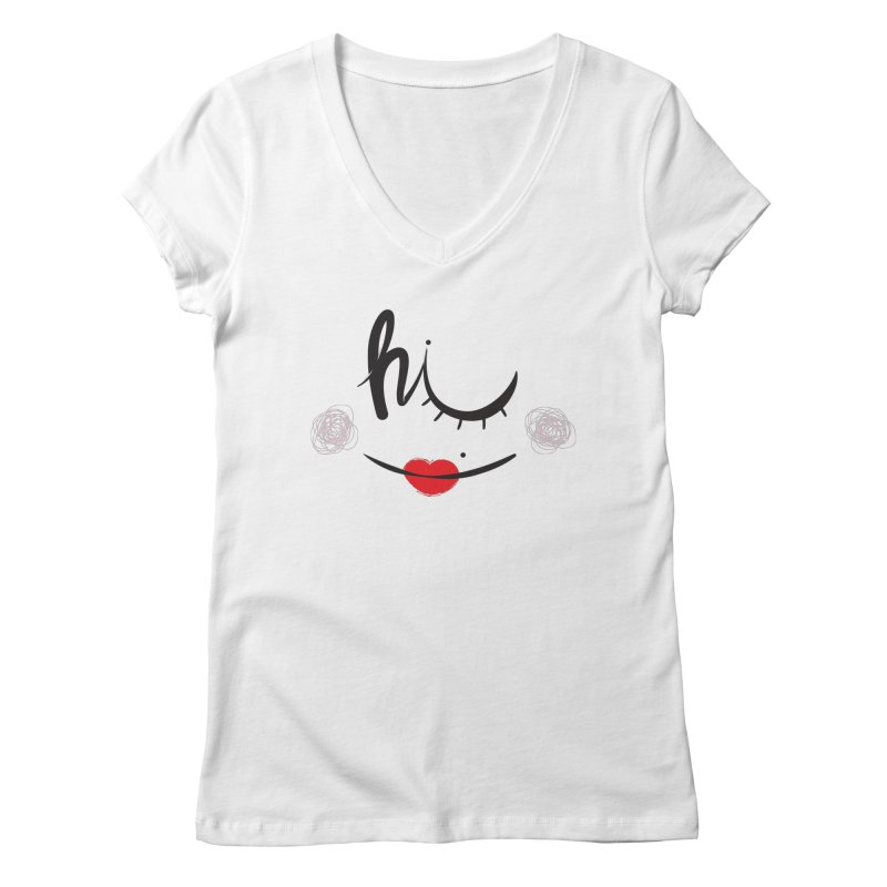 Hi  Women's V-Neck by Paulo Bruno Artist Shop