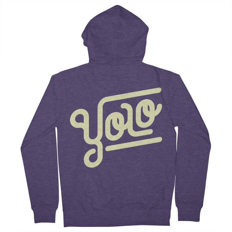 You Only Live Once Men's Zip-Up Hoody by Paulo Bruno Artist Shop