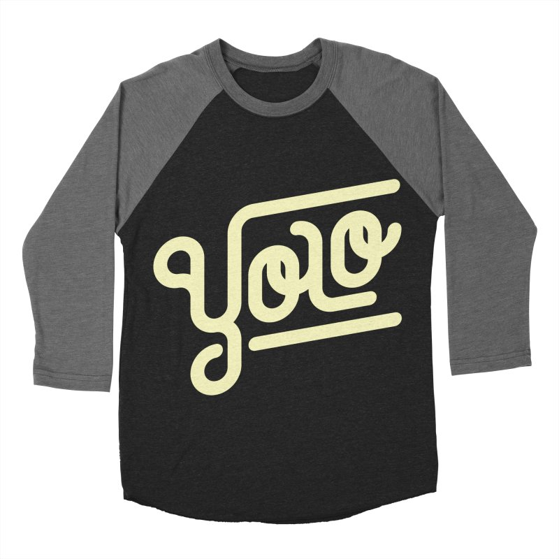 You Only Live Once Men's Baseball Triblend T-Shirt by Paulo Bruno Artist Shop