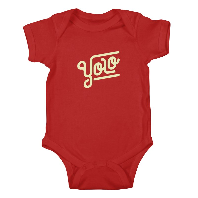 You Only Live Once Kids Baby Bodysuit by Paulo Bruno Artist Shop