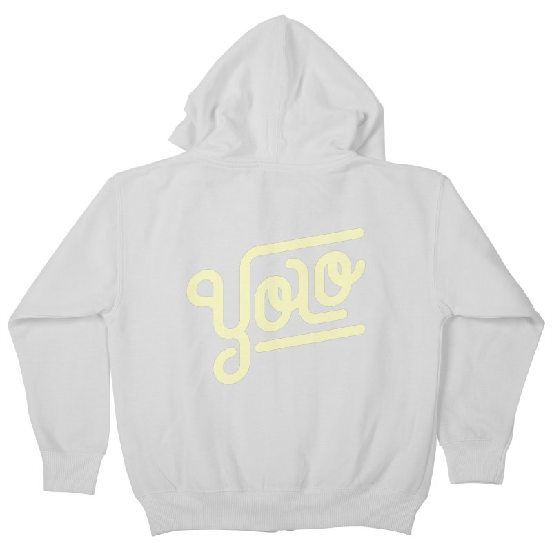 You Only Live Once Kids Zip-Up Hoody by Paulo Bruno Artist Shop