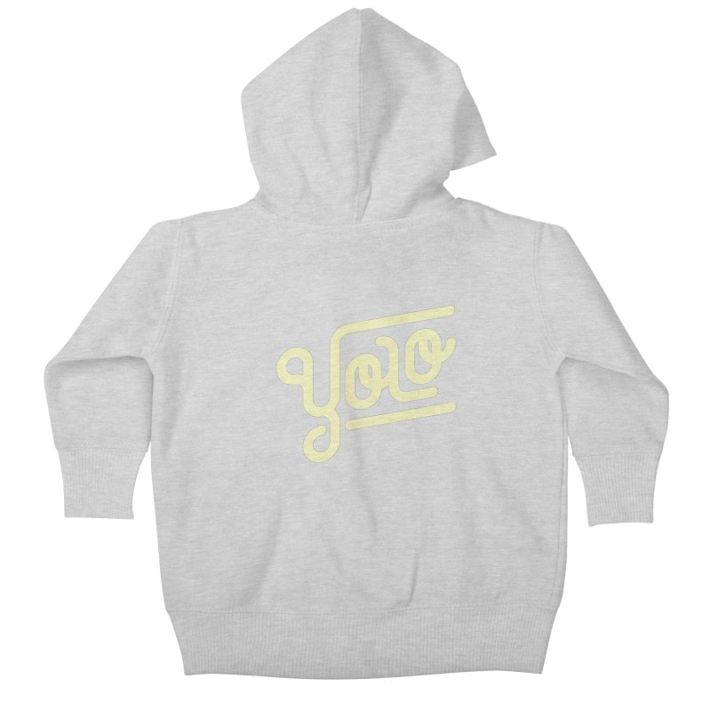 You Only Live Once Kids Baby Zip-Up Hoody by Paulo Bruno Artist Shop