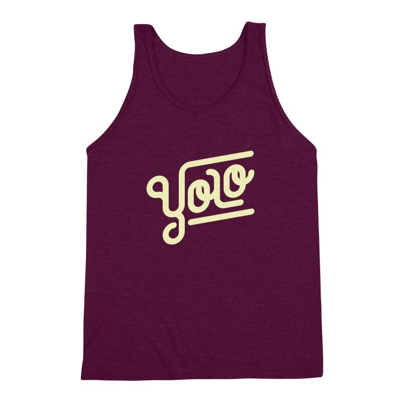You Only Live Once Men's Triblend Tank by Paulo Bruno Artist Shop