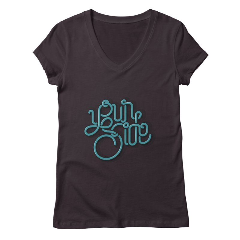 Your Side Women's V-Neck by Paulo Bruno Artist Shop