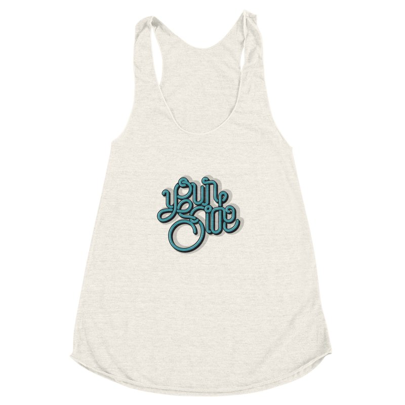 Your Side Women's Racerback Triblend Tank by Paulo Bruno Artist Shop