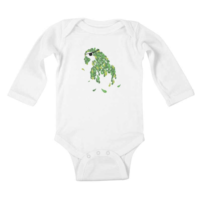 Pirates Parrot  Kids Baby Longsleeve Bodysuit by Paulo Bruno Artist Shop