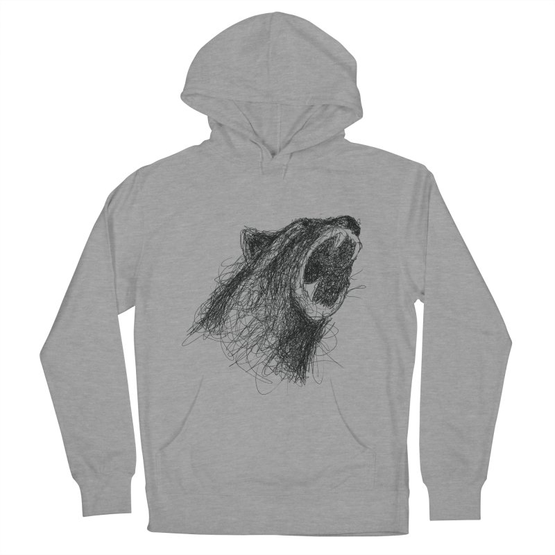 Line Bear Men's Pullover Hoody by Paulo Bruno Artist Shop