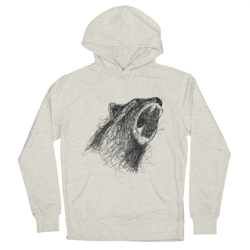 Line Bear Men's French Terry Pullover Hoody by Paulo Bruno Artist Shop