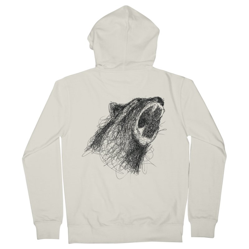 Line Bear Women's French Terry Zip-Up Hoody by Paulo Bruno Artist Shop