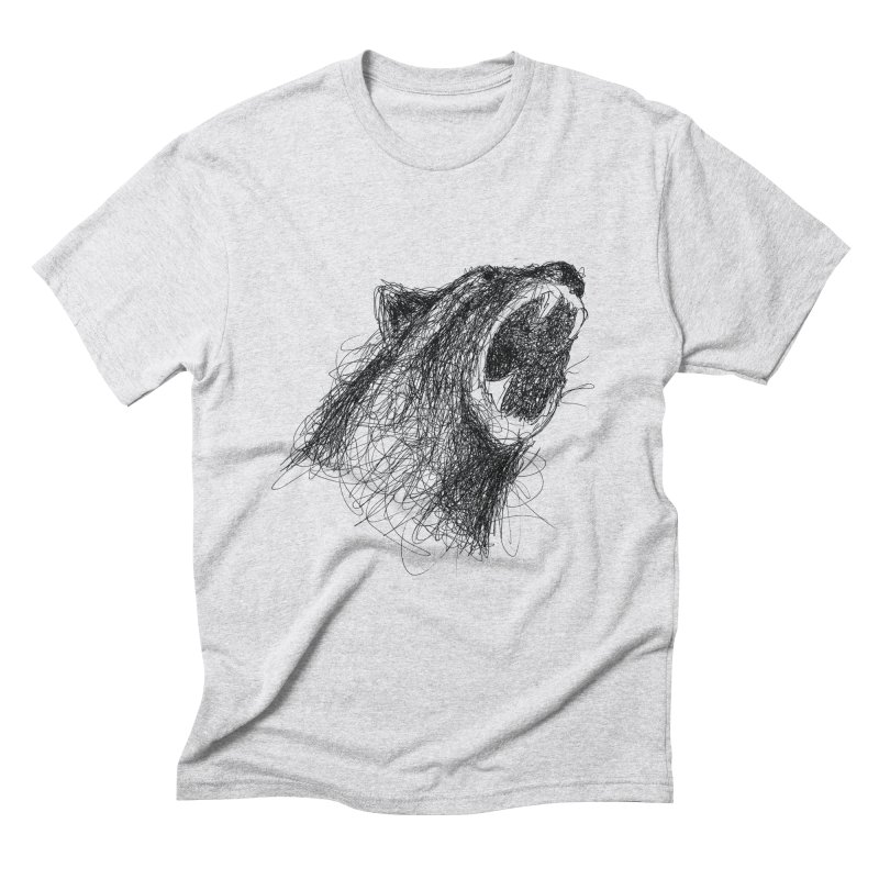 Line Bear Men's Triblend T-Shirt by Paulo Bruno Artist Shop