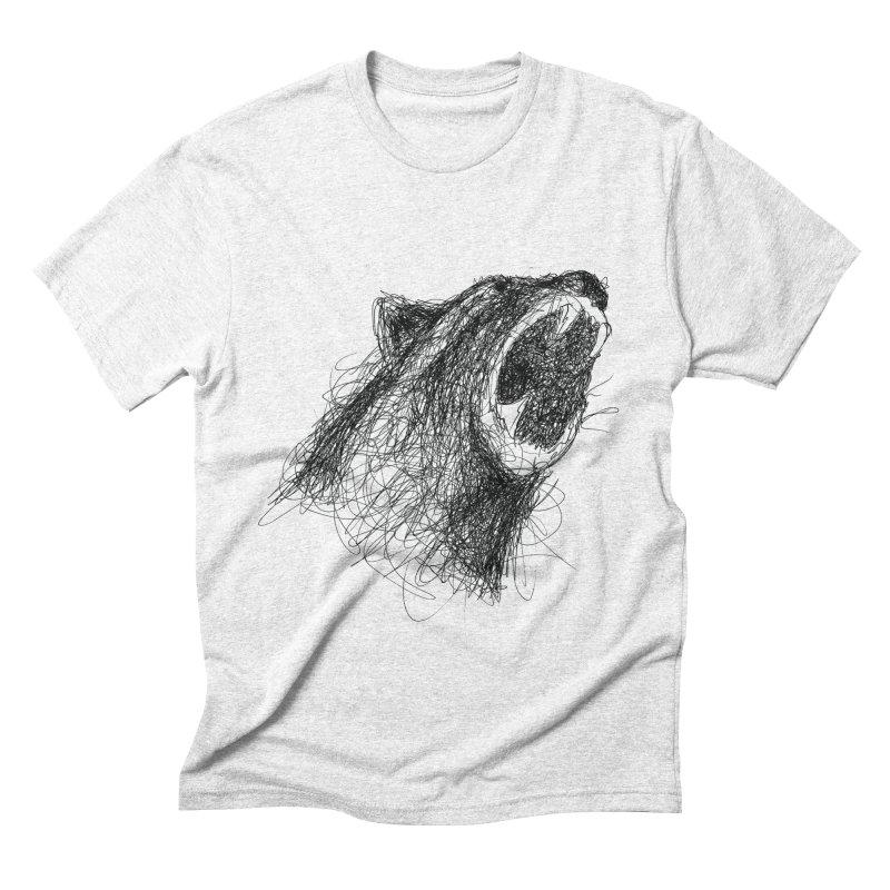 Line Bear Men's Triblend T-shirt by Paulo Bruno Artist Shop
