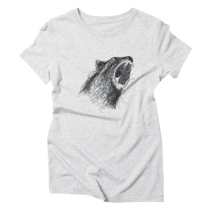 Line Bear Women's Triblend T-Shirt by Paulo Bruno Artist Shop