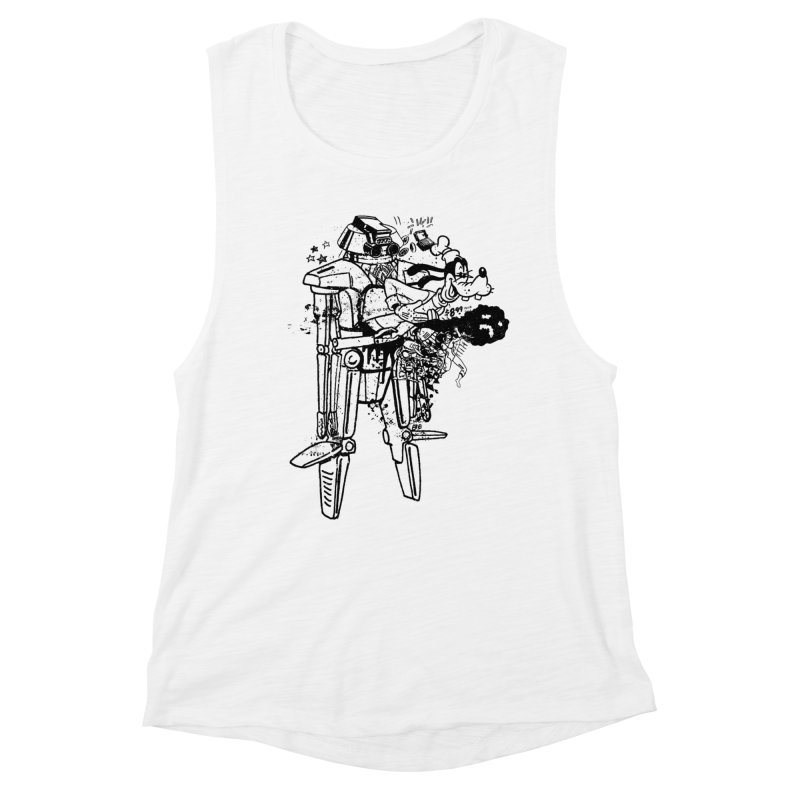 Goffing Around Women's Muscle Tank by Paul Rentler