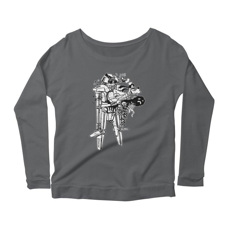Goffing Around Women's Scoop Neck Longsleeve T-Shirt by Paul Rentler