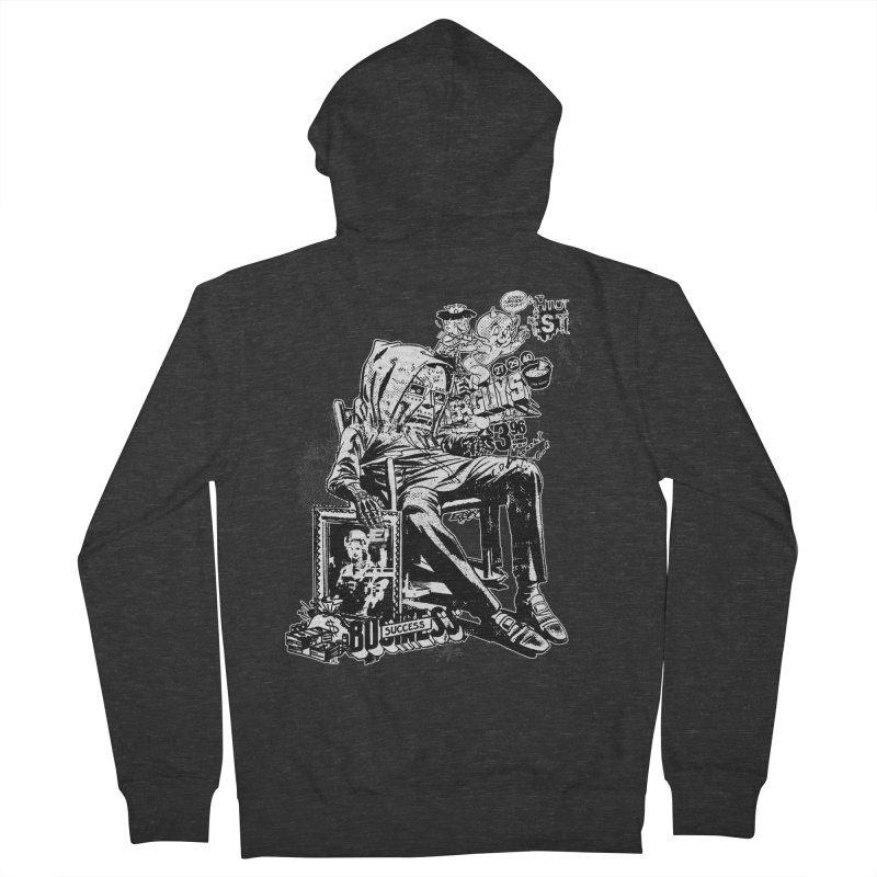 DOOMED (two color) Men's French Terry Zip-Up Hoody by Paul Rentler