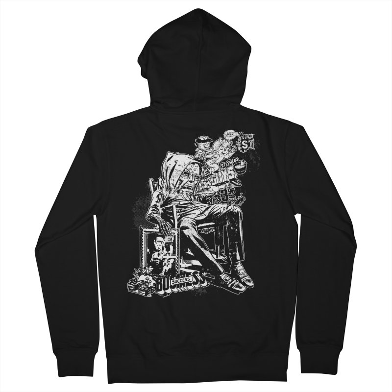 DOOMED (two color) Men's Zip-Up Hoody by Paul Rentler