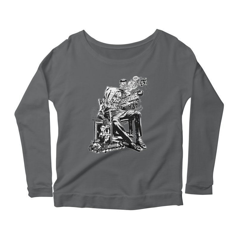 DOOMED (two color) Women's Scoop Neck Longsleeve T-Shirt by Paul Rentler