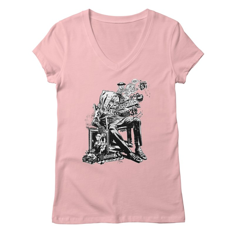 DOOMED (two color) Women's Regular V-Neck by Paul Rentler