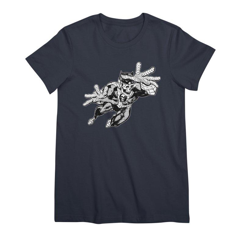 bat-skull-man-spider (two color) Women's Premium T-Shirt by Paul Rentler