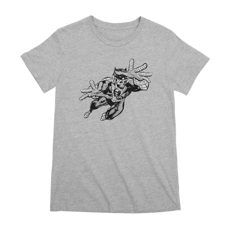 bat-skull-man-spider (two color) Women's Premium T-Shirt by Paul Rentler