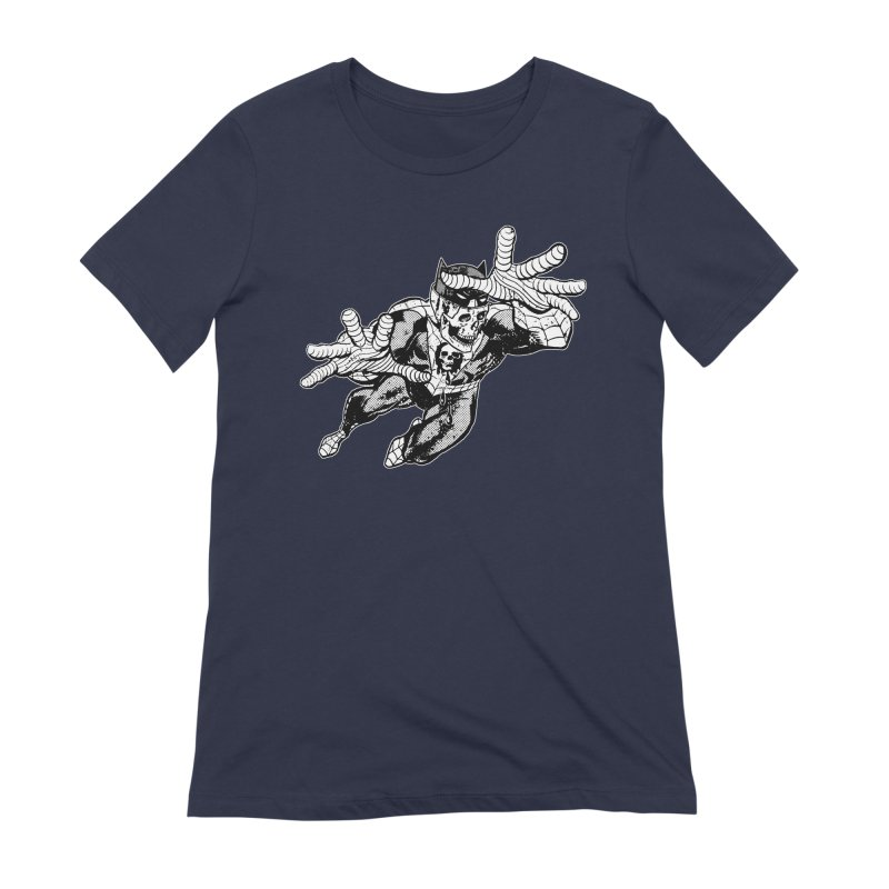 bat-skull-man-spider (two color) Women's Extra Soft T-Shirt by Paul Rentler
