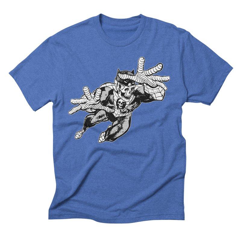 bat-skull-man-spider (two color) Men's T-Shirt by Paul Rentler