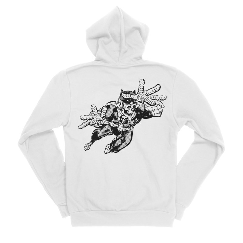 bat-skull-man-spider (two color) Women's Sponge Fleece Zip-Up Hoody by Paul Rentler