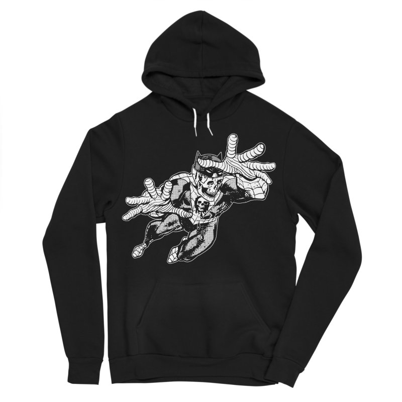 bat-skull-man-spider (two color) Women's Sponge Fleece Pullover Hoody by Paul Rentler