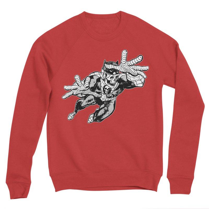 bat-skull-man-spider (two color) Men's Sponge Fleece Sweatshirt by Paul Rentler