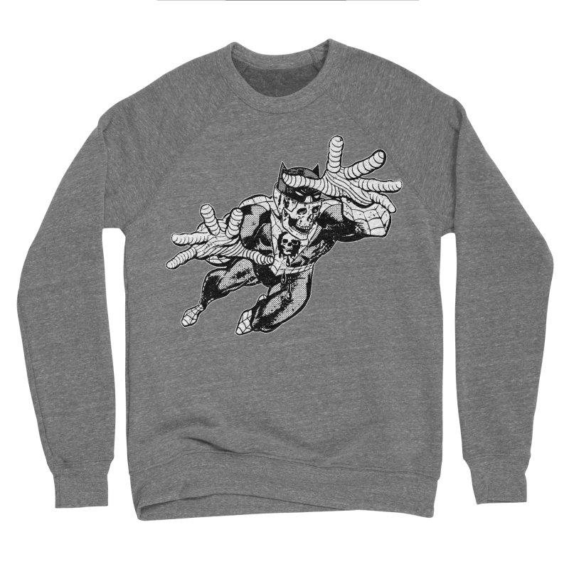 bat-skull-man-spider (two color) Men's Sponge Fleece Sweatshirt by Paul Rentler