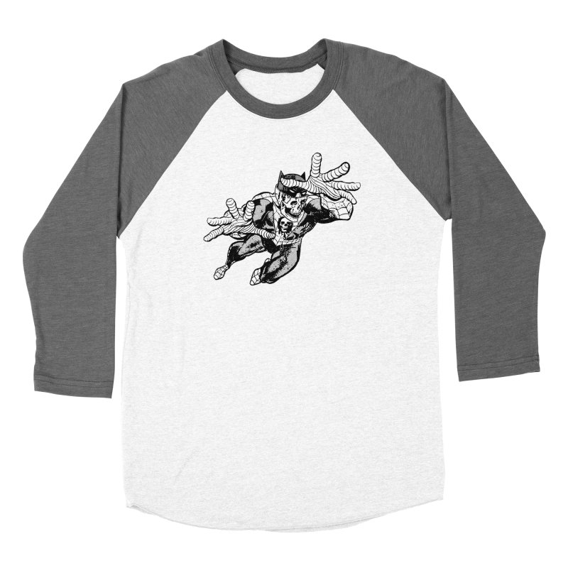 bat-skull-man-spider (two color) Women's Longsleeve T-Shirt by Paul Rentler