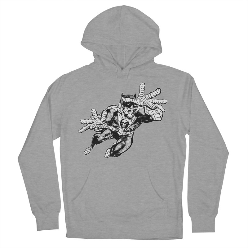 bat-skull-man-spider (two color) Men's French Terry Pullover Hoody by Paul Rentler