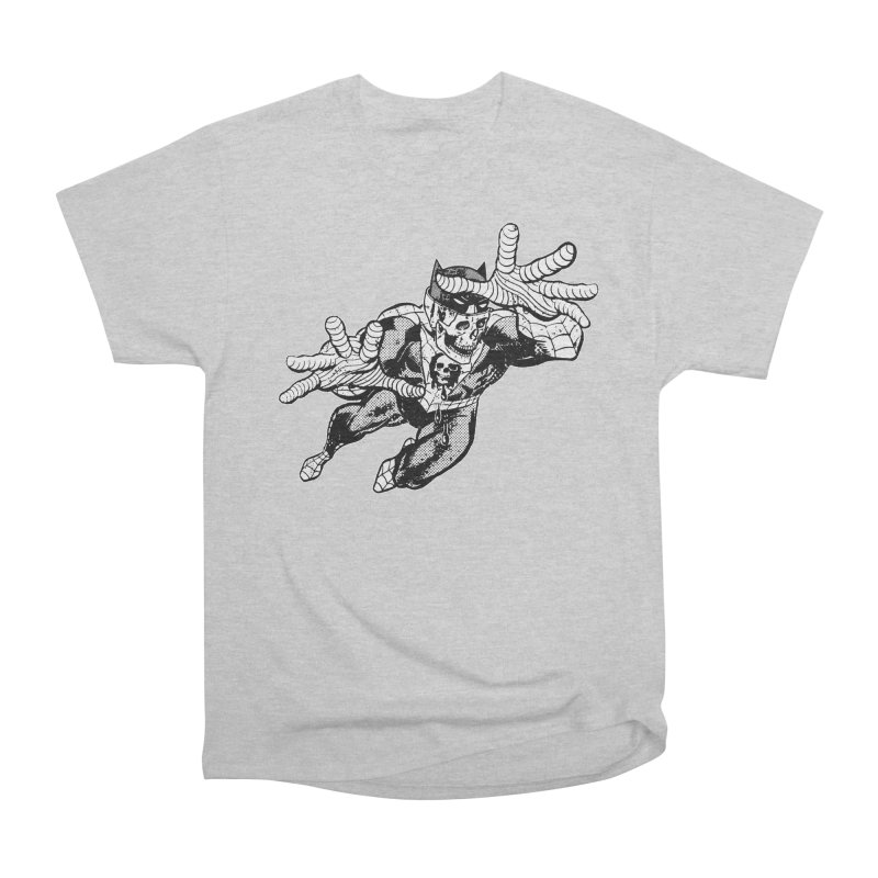 bat-skull-man-spider (two color) Women's Heavyweight Unisex T-Shirt by Paul Rentler