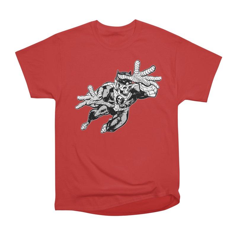 bat-skull-man-spider (two color) Men's Heavyweight T-Shirt by Paul Rentler