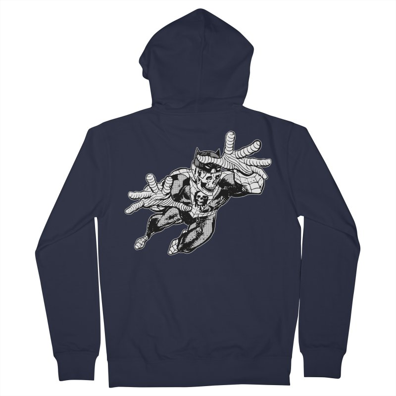 bat-skull-man-spider (two color) Women's French Terry Zip-Up Hoody by Paul Rentler