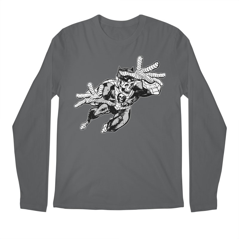 bat-skull-man-spider (two color) Men's Longsleeve T-Shirt by Paul Rentler