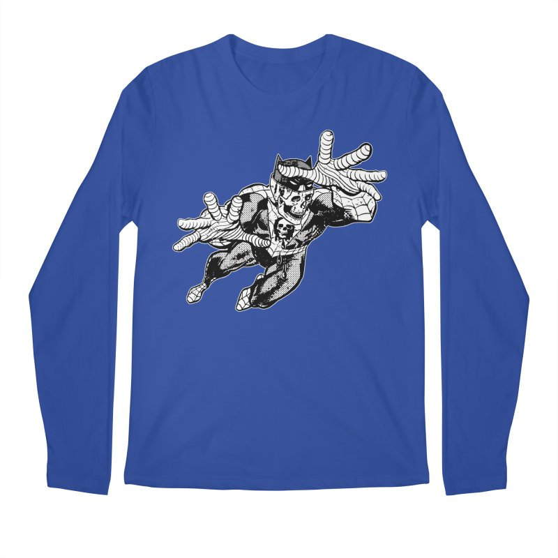 bat-skull-man-spider (two color) Men's Regular Longsleeve T-Shirt by Paul Rentler