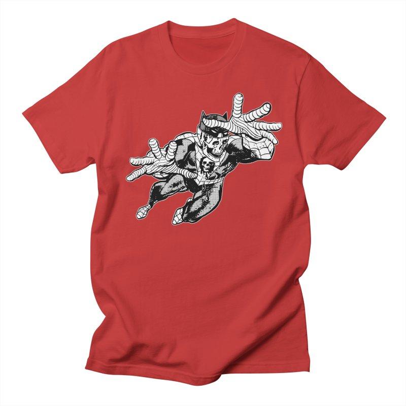 bat-skull-man-spider (two color) Men's Regular T-Shirt by Paul Rentler
