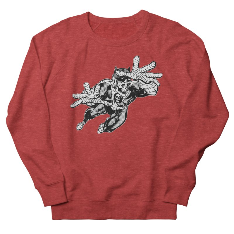 bat-skull-man-spider (two color) Women's French Terry Sweatshirt by Paul Rentler