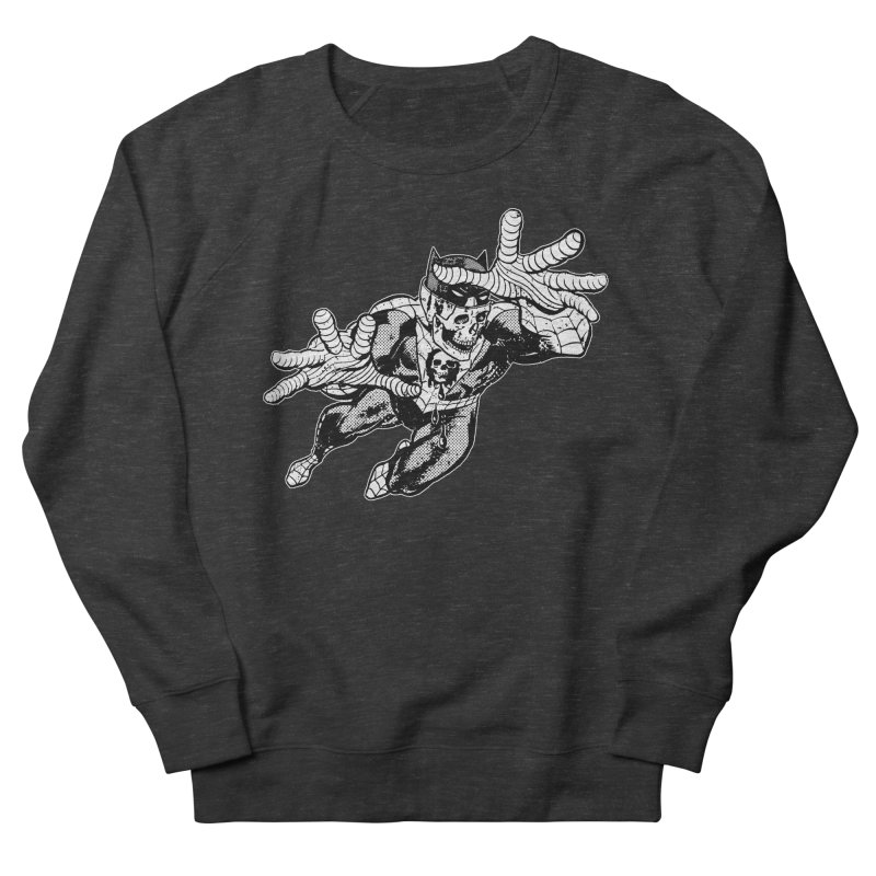 bat-skull-man-spider (two color) Men's French Terry Sweatshirt by Paul Rentler