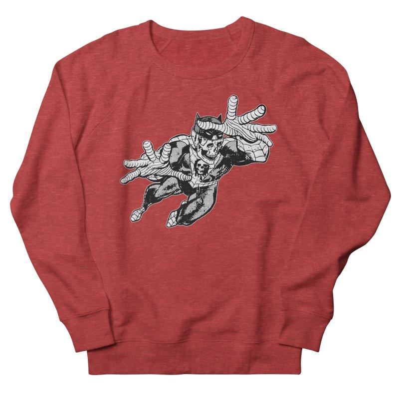 bat-skull-man-spider (two color) Men's French Terry Sweatshirt by Paul Rentler
