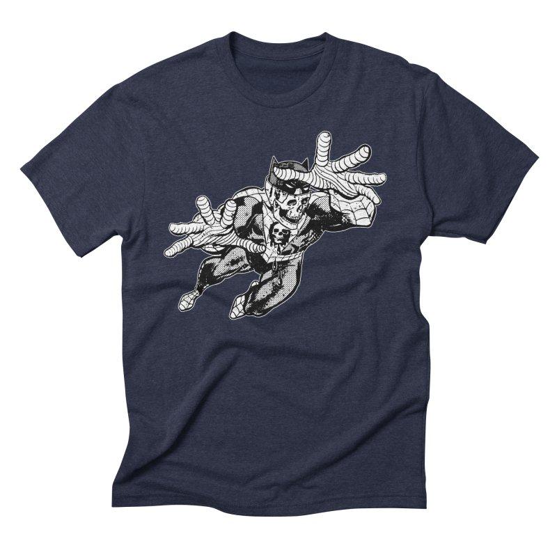bat-skull-man-spider (two color) Men's Triblend T-Shirt by Paul Rentler