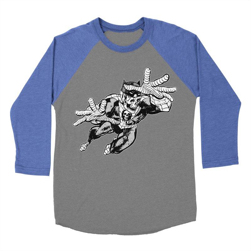 bat-skull-man-spider (two color) Women's Baseball Triblend Longsleeve T-Shirt by Paul Rentler