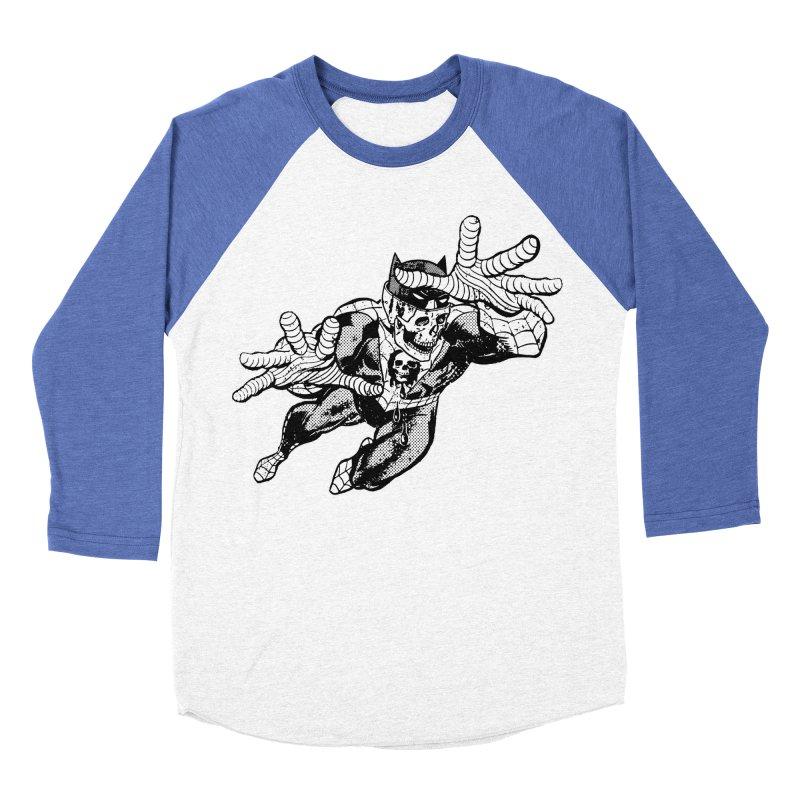 bat-skull-man-spider (two color) Men's Baseball Triblend Longsleeve T-Shirt by Paul Rentler