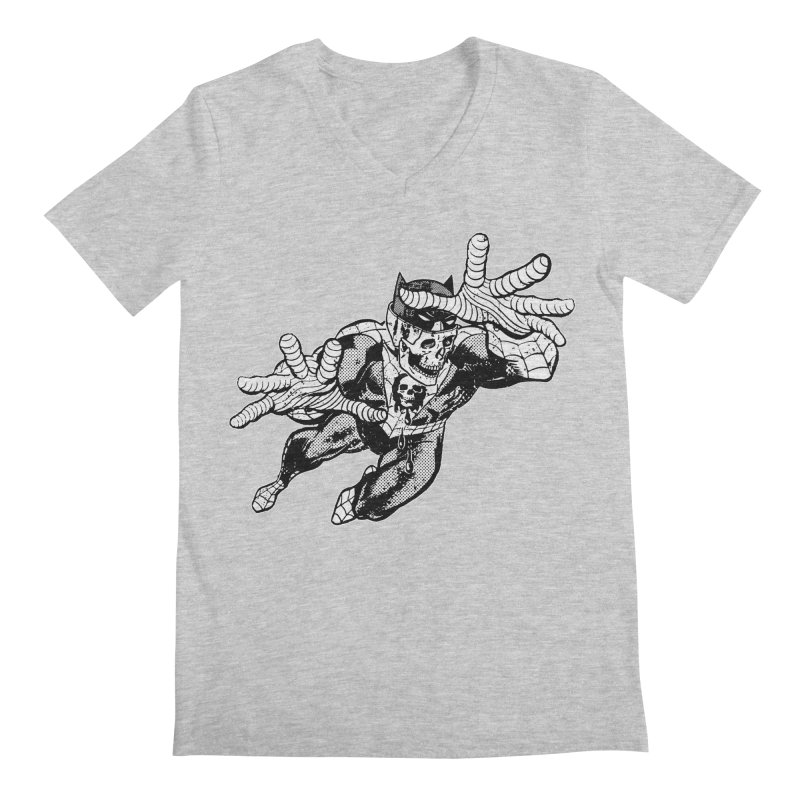 bat-skull-man-spider (two color) Men's Regular V-Neck by Paul Rentler