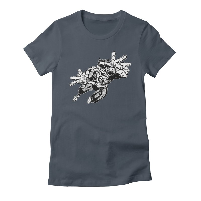 bat-skull-man-spider (two color) Women's T-Shirt by Paul Rentler