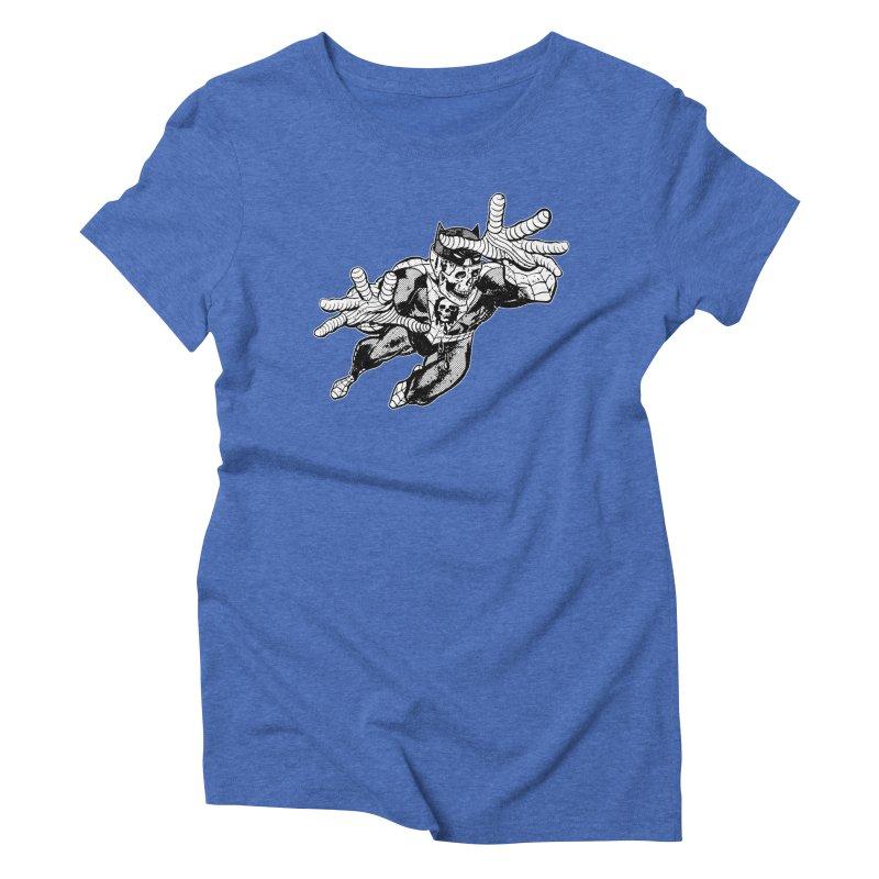bat-skull-man-spider (two color) Women's Triblend T-Shirt by Paul Rentler