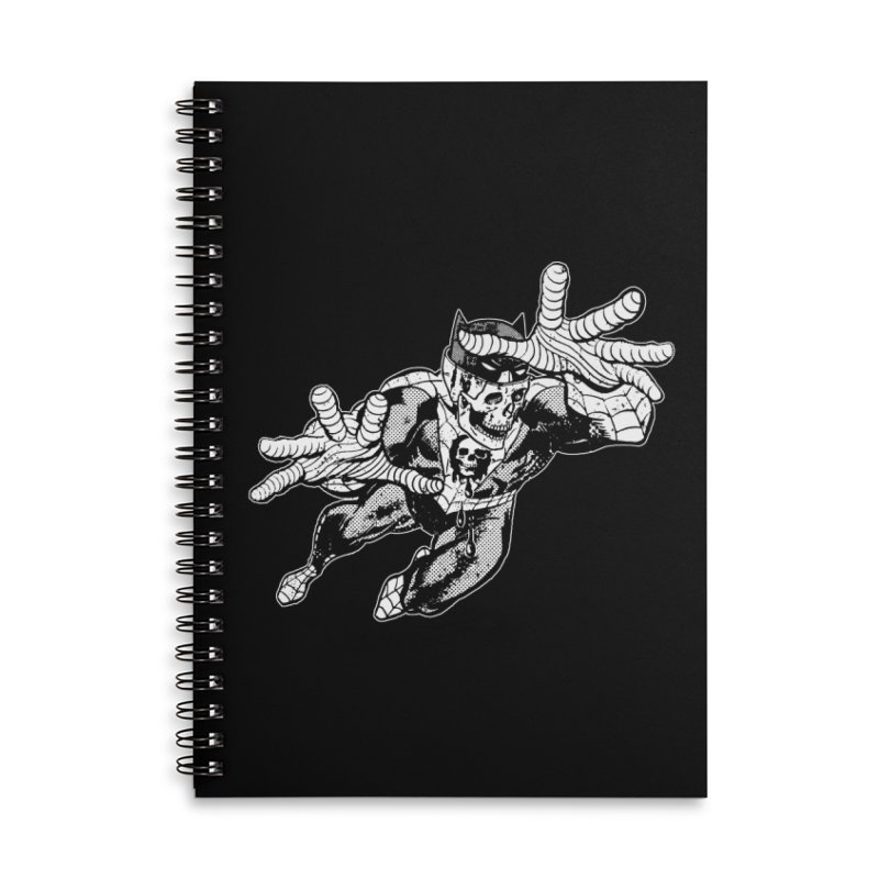bat-skull-man-spider (two color) Accessories Notebook by Paul Rentler